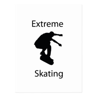 het extreme schaatsen briefkaart