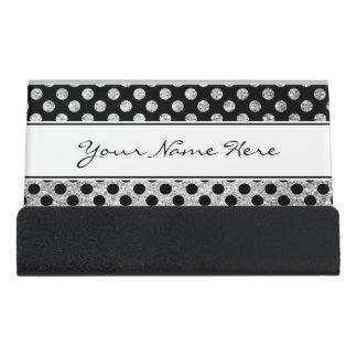 Het fancy Moderne Zilver schittert & Zwarte Bureau Visitekaartjeshouders