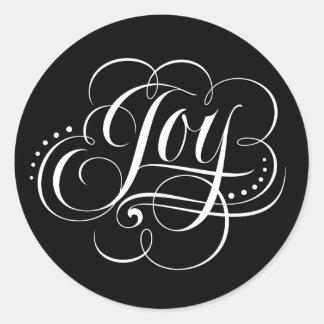 Het fancy Van letters voorzien van de Kalligrafie Ronde Sticker