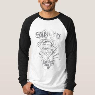 Het Fancy Zilveren Logo van Supergirl T Shirt