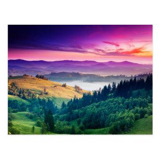 Het fantastische Landschap van de Berg van de Briefkaart