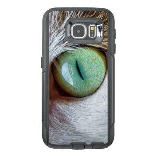 Het fascineren het Oog van de Groene Kat OtterBox Samsung Galaxy S6 Hoesje