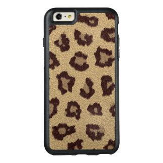 Het faux-Bont van de Druk van de luipaard OtterBox iPhone 6/6s Plus Hoesje
