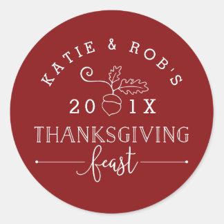 Het Feest van de Thanksgiving Ronde Sticker
