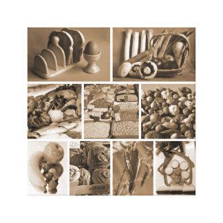 Het feest van Foodie Canvas Print