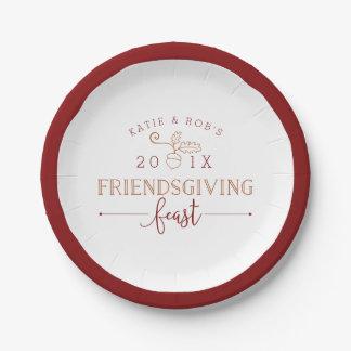 Het Feest van Friendsgiving Papieren Bordje