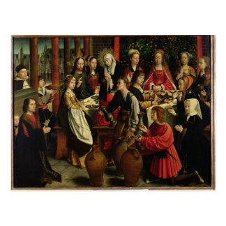 Het feest van het Huwelijk in Cana, c.1500-03 Briefkaart