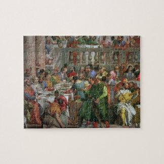 Het feest van het Huwelijk in Cana, detail van het Puzzel