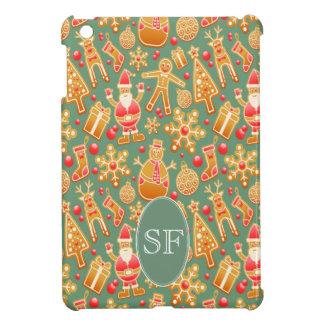 Het feestelijke Kerstman en Monogram van de iPad Mini Covers