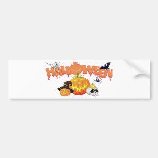 Het Feestelijke Ontwerp van Halloween Bumpersticker