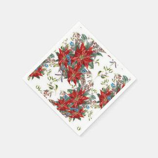 Het feestelijke Rijke Rode Servet van de bloem van Papieren Servetten