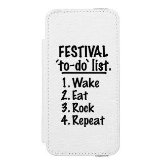 Het festival ` aan-' maakt van een lijst (blk)
