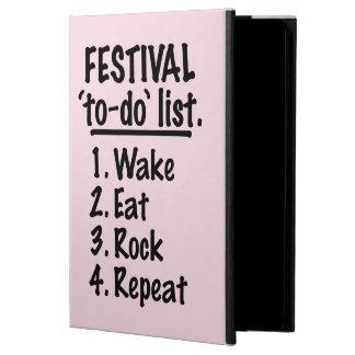 Het festival ` aan-' maakt van een lijst (blk) iPad air hoesje