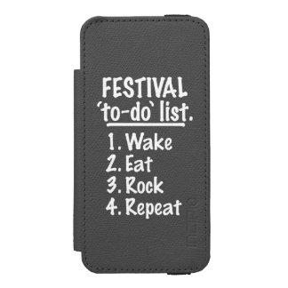 Het festival ` aan-' maakt van een lijst (wht)
