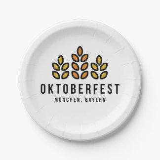 Het Festival van Beerfest van Oktoberfest Papieren Bordje
