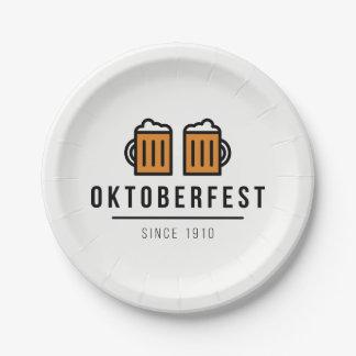 Het Festival van Beerfest van Oktoberfest sinds Papieren Bordje