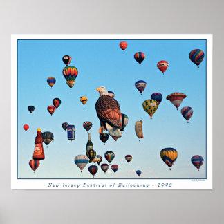 Het Festival van de ballon Poster