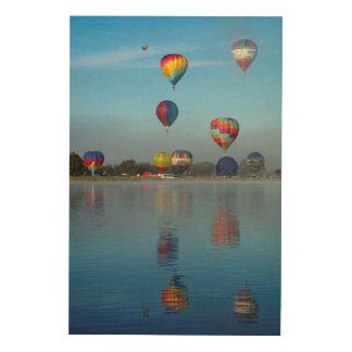 Het Festival van de Ballon van de hete Lucht Hout Afdruk