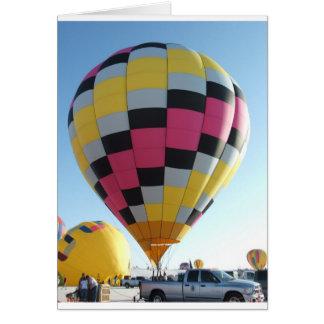 Het festival van de hete luchtBallon Wenskaart