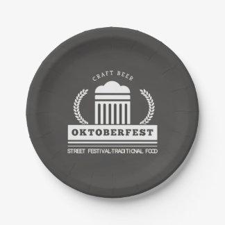 Het Festival van de Straat van Oktoberfest over Papieren Bordje