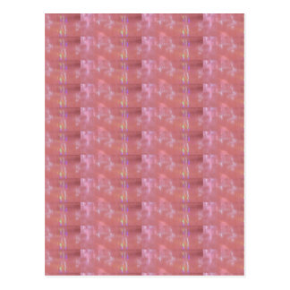 Het FIJNE Roze Grafische Patroon van het Weefsel Briefkaart