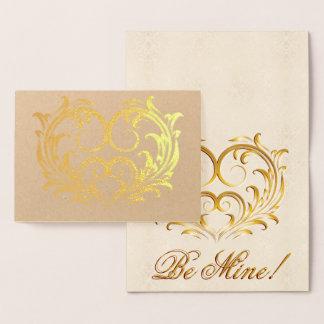 Het filigraan Gouden Hart van de Folie - ben Mijn! Folie Kaarten