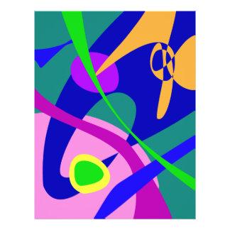 Het filosofische Digitale Abstracte Patroon van he Fullcolor Folder
