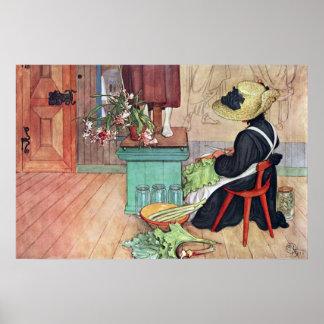 Het Fine Art Poster van Carl Larsson Karin Peeling