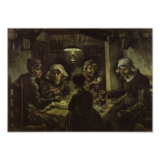 Het fine Art. van de Aardappel Eaters Van Gogh Poster