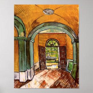 Het Fine Art. van de hal St-Paul Hospital Van Gogh Poster