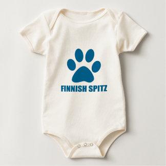 HET FINSE SPITZ DESIGN VAN DE HOND BABY SHIRT