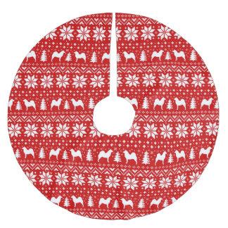 Het finse Spitz Rood van het Patroon van Kerstmis Kerstboom Rok