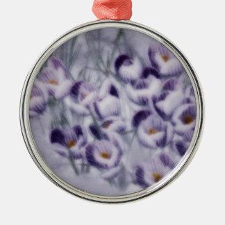 Het Flard van de Krokus van de lavendel Zilverkleurig Rond Ornament