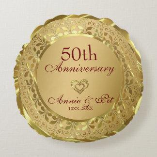 Het fonkelen het Gouden 50ste Jubileum van het Rond Kussen