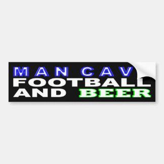 Het Football en het Bier van het Hol van het man Bumpersticker