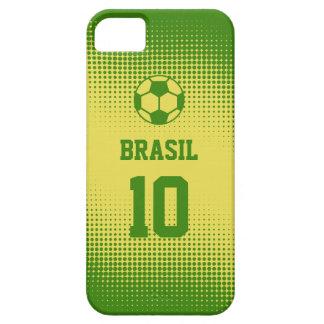 Het Football van Brazilië Brazilië met het Aantal Barely There iPhone 5 Hoesje