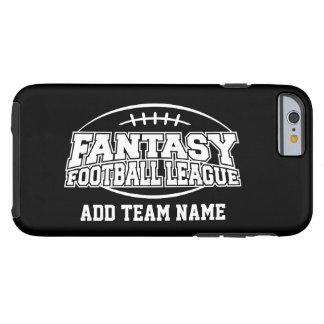 Het Football van de fantasie - Uw Logo van het Tough iPhone 6 Hoesje