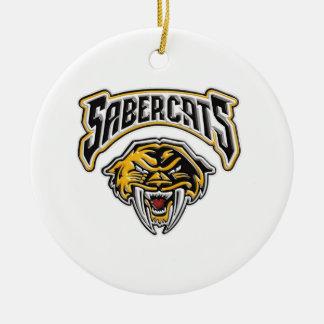 Het Football van de Jeugd van Sabercats & juicht Rond Keramisch Ornament