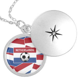 Het Football van de Vlag van Nederland Locket Ketting