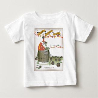 het footballbus van Spanje Baby T Shirts