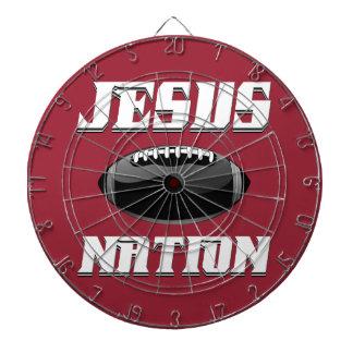 Het footballtoestel van Jesus Nation Dartbord