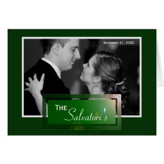Het formele Klantgerichte Huwelijk dankt u kaardt Notitiekaart