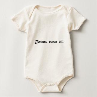 Het fortuin is blind baby shirt