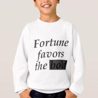Het fortuin keurt de vette letters goed trui