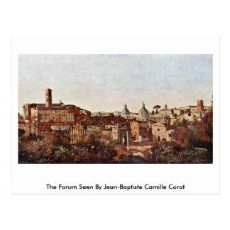 Het forum dat door Jean-Baptiste Camille Corot Briefkaart