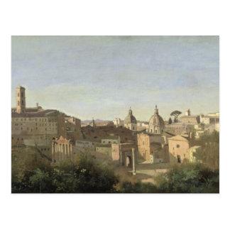 Het forum dat van Farnese wordt gezien tuiniert Briefkaart