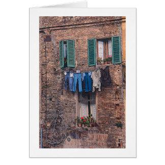 Het fotografische wenskaart van de wasserij van de
