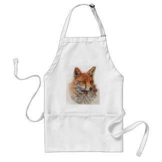 Het Foxy rode de vos van de Dame schilderen Standaard Schort