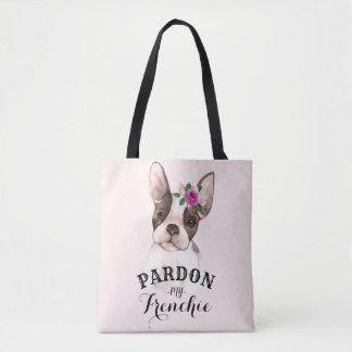 Het Franse Canvas tas van de Buldog - Roze