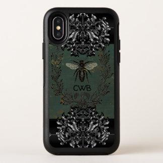 Het Franse Koele Beschermende Monogram van de Bij OtterBox Symmetry iPhone X Hoesje